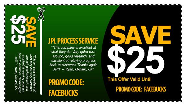 riverside process server coupon